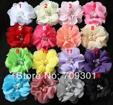flowers free shipping wholesale 8mm solid baby satin headband plain flowers headbands