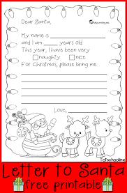 free letter to santa printable totschooling toddler preschool