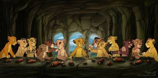 popped culture lion king last supper