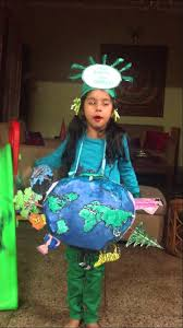 mansi ready for the earth day fancy dress youtube