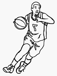image of basketball player clipart black and white 8825
