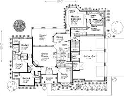 Great Home Plans by English Country Style House Plans 2838 Square Foot Home 1 Story
