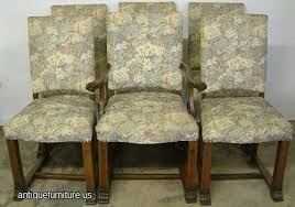 antique set of 6 upholstered dining room chairs at antique