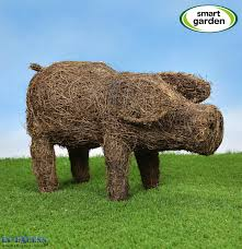 smart garden poppy the pig rattan garden ornament in excess direct