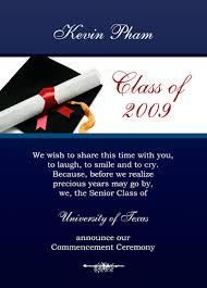 graduation announcement exles exles of graduation invitations oxsvitation