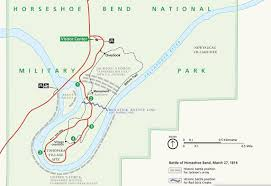 Battle Of New Orleans Map by Horseshoe Bend National Military Park Battle Of Horseshoe Bend