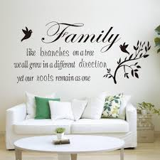family likes branch quotes wall stickers decal home decoration family likes branch quotes wall stickers decal home decoration flying black birds living room bedroom mural poster in wall stickers from home garden on