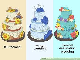 3 ways to choose colors for your wedding cake wikihow
