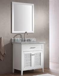 ace kensington 31 inch single sink bathroom vanity set in white finish