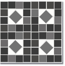 12 x12 flooradorn black and white mosaic tiles set of 6