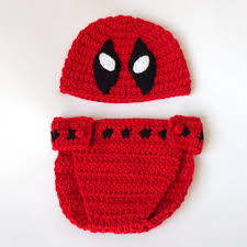 spirit halloween las cruces deadpool hat and diaper cover costume set marvel beanie mask