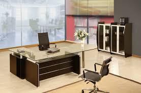 Computer Inside Glass Desk Furniture Office Shocking Ideas Captivating Wood And Glass Desk