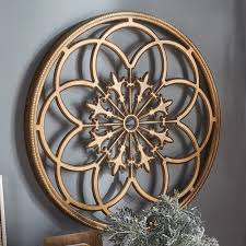 carved wood medallion wall kate and laurel kate and laurel ondelette medallion wood