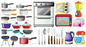 ustensiles de cuisine illustration de vecteur illustration du