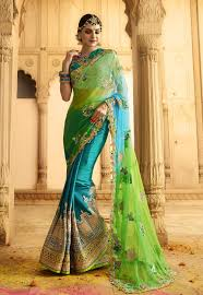 reception sarees for indian weddings wedding reception sarees online germany green blue net and silk