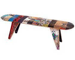 Skateboard Decorating Ideas Skateboard Bench Long Skateboard Decking And Settee Sofa