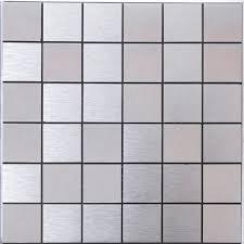 metallic tiles backsplash alucobond tile brushed aluminum mosaic brick acp metal tile