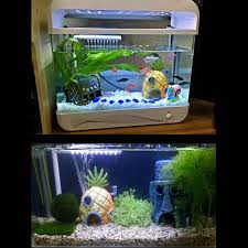 instock spongebob fish tank accessories decorations pets