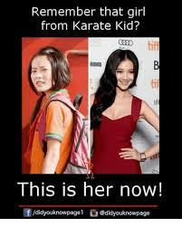 Karate Meme - remember that girl from karate kid ronto tif te this is her now 団