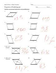 properties of parallelograms worksheet 6 properties of parallelograms kuta software infinite geometry