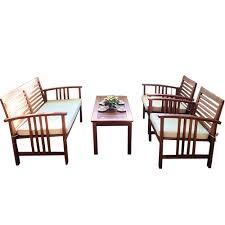 Eucalyptus Outdoor Table by Buy Luxo Bahamas 4 Piece Eucalyptus Outdoor Sofa Set Cream