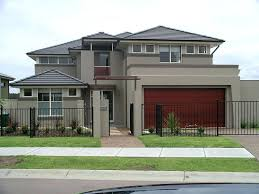 modern black and grey exterior paint color combinations with