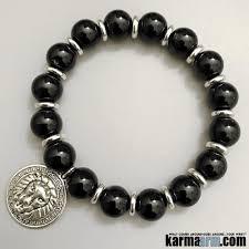 black onyx charm bracelet images Yoga bracelets be bold onyx lion medallion charm chakra jewelry jpg