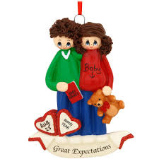 personalized expecting couple ornament penned ornaments