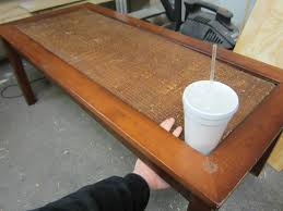 Glass And Wood Coffee Table by How To Refinish And Tile A Coffee Table The Home Depot Community