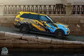 wrapped range rover sport new range rover sport gets crazy