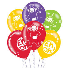 helium birthday balloons 6 x teletubbies colour balloons birthday balloons party