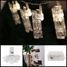 2 2m 20 led photo clip string lights aa battery operated indoor