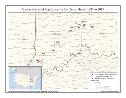 United States Latitude Map by Median Center Of United States Population Wikipedia