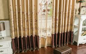 luxury bedroom curtains floral embroidery faux silk luxury bedroom curtains