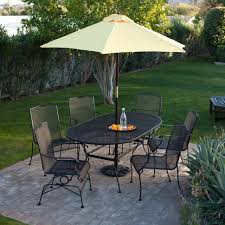 Small Outdoor Table With Umbrella Hole by Outdoor Narrow Rectangular Patio Table Wood Umbrella Table