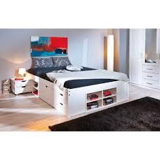 chambre 160x200 alaska lit 160x200 cm multi rangement
