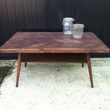 custom made danish modern herringbone coffee tablej u0026s pertaining