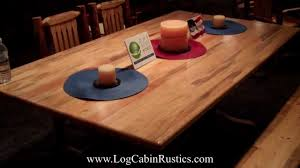 rustic farmhouse table amish pine log dining table by montana