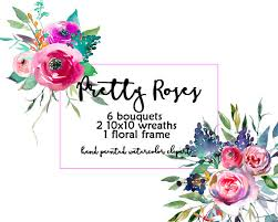 wedding flowers png purple flowers digital floral clipart watercolor bouquets roses