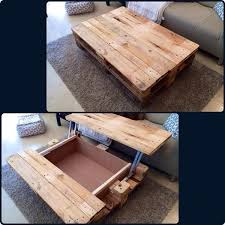 Diy Wood Crate Coffee Table by 15 Unique Reclaimed Pallet Table Ideas Pallets Storage And Coffee