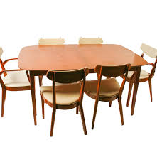 mid century modern kipp stewart for drexel dining table set ebth