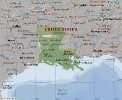 louisiana geographical map map of louisiana state usa