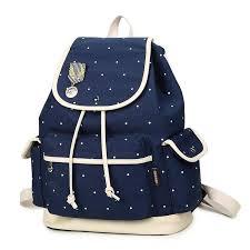 rucksack design winner brand design backpack canvas polka dot bookbag