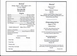 Church Programs Templates Image Gallery Homecoming Church Program Templates