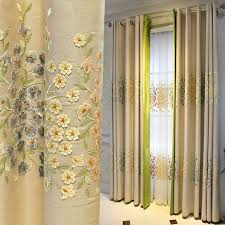 Grommet Window Curtains Grommet Floral Embroidered Window Curtains