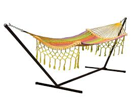 sunnydaze one person mayan hammock with stand u2013 15 u0027