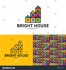 bright house logo design template vector stock vector 496101490