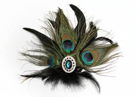 how to make a peacock feather clip
