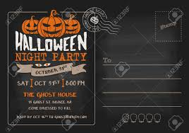 Halloween Birthday Party Invitations Templates halloween postcard invitations u2013 festival collections