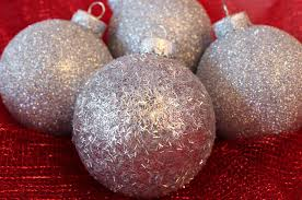 silver glitter tree ornaments two crafting
